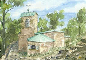 Steinhage-Aquarell-Gangolf-Kapelle