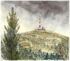 Steinhage - Aquarell - Brocken